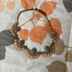Colorful statement necklace.